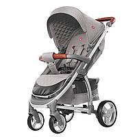 Детская прогулочная коляска с дождевиком серая CARRELLO Vista CRL-8505 Shark Gray в льне