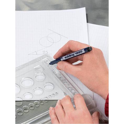 Линер для черчения Edding рапидограф drawliner 0,35мм e-1880/03, фото 2