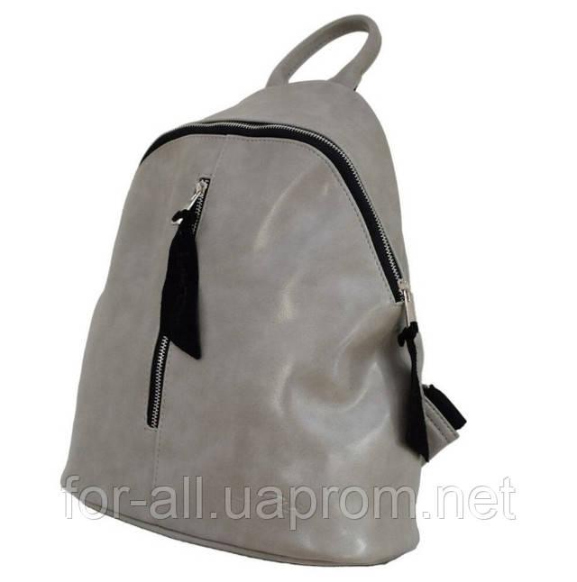 Фото женский рюкзак серого цвета