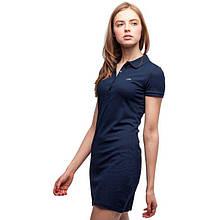 Платье поло Lacoste темно синее