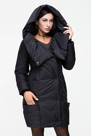 Женская зимняя куртка Kattaleya KTL-123 черного цвета, фото 2