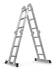 Лестница трансформер алюминиевая + рабочая поверхность Humberg 4x3 (8090)