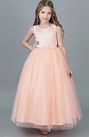 Святкове персикове Чепурне Бальна сукня в підлогу, для девочкіPeach tree2021, фото 1