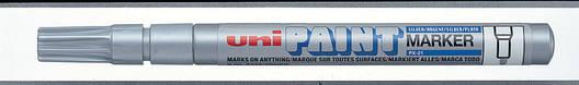 Маркер uni PAINT 0.8-1.2мм серебро, фото 2
