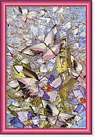 Репродукция  современной картины  «Бабочки закрыли небо» 30 х 45 см