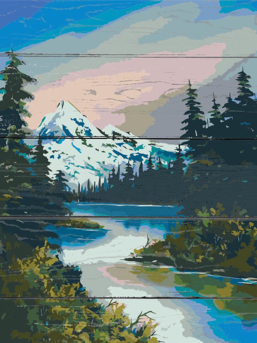 Картина по номерам на дереве Горная река ArtStory ASW041 30 х 40 см