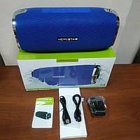 Портативная Bluetooth Колонка Hopestar A6 БАС ОРИГИНАЛ беспроводная водонепроницаемая акустика синяя