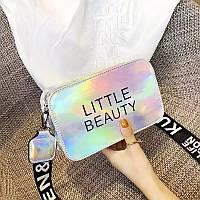 Женская сумка голограммная через плечо Little Beauty, Жіноча сумочка голограмма, Женский клатч