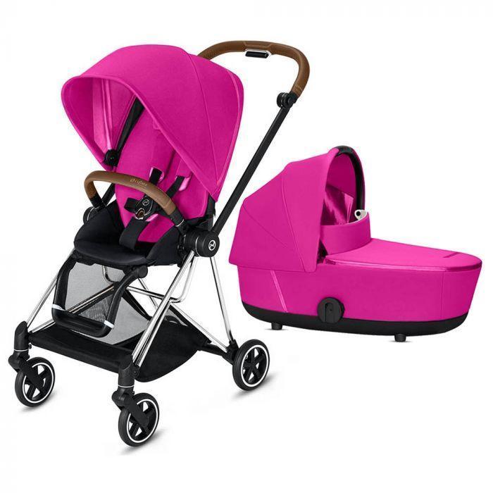 Коляска Cybex Mios Fancy Pink purple 2019 2в1