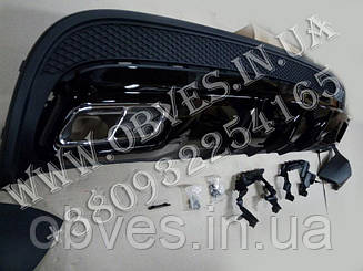Дифузор заднього бампера Mercedes GLA-class X156 стиль GLA45 AMG