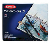 Набор акварельных карандашей Watercolour 24шт. мет коробка Derwent