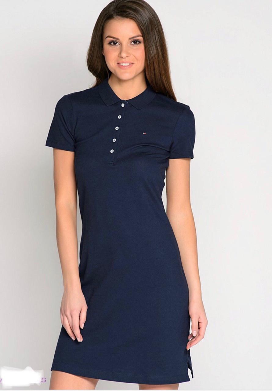 Платье поло Tommy Hilfiger темно синее