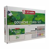 Набор гуашевых красок ArtCreation Combiset 12x12мл склейка А4 кисточки- 2шт карандаш клячка R