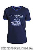 Футболка мужская PAUL & SHARK 19-21551 темно-синяя