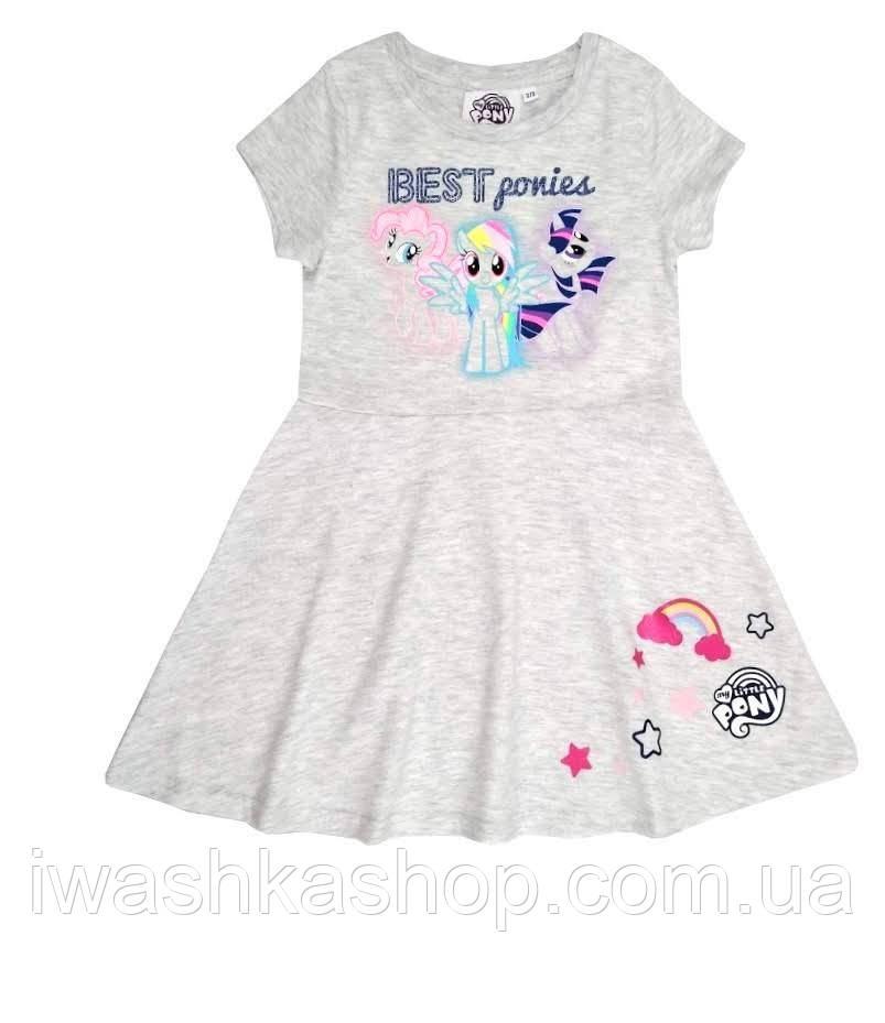 Трикотажное летнее платье с пони на девочек 1,5 - 2 лет, р. 92, Primark / My little Pony