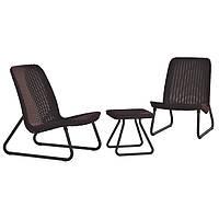 Комплект садовой мебели из искусственного ротанга Rio patio set (коричневый)