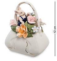 Статуэтка фарфоровая Мышонок с сумкой цветов Pavone CMS-62/ 1