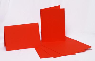 Набор заготовок для открыток 5шт 10.3х7см №9 красный 220г/м2