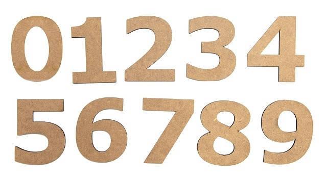 Набор заготовок Цифра ''7'', МДФ, высота 10см, 5шт, ROSA Talent, фото 2