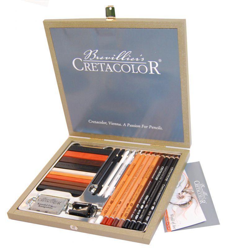 Набор карандашей для рисунка Passion Box 25 шт дер упаковка Cretacolor