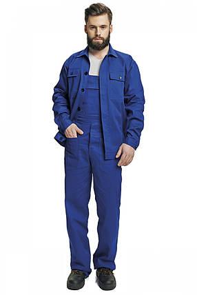Костюм (полукомбинезон с курткой) рабочий RALF лето Хлопок 100% синий, фото 2