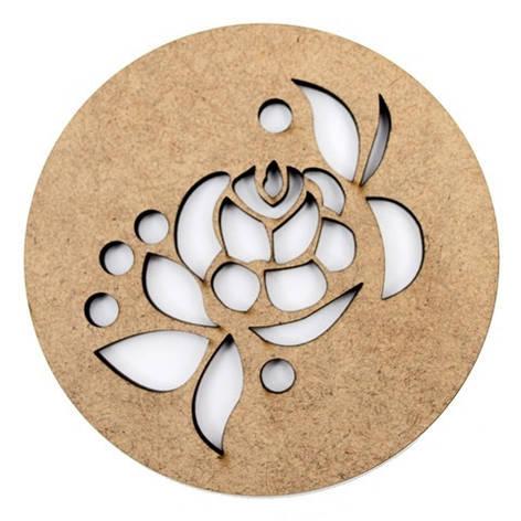 Набор круглых подставок для чашек серия Цветочный орнамент 2шт МДФ Д:10см ТМ, фото 2