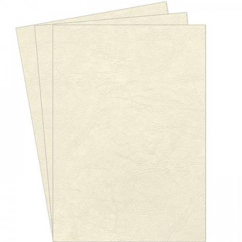 Обложки картонные А3 DELTA 250мкм слоновая кость под кожу, фото 2