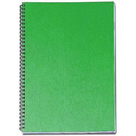 Обложки картонные А4 DELTA 250мкм зеленые под кожу, фото 2