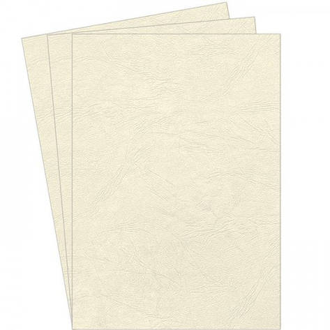 Обложки картонные А4 DELTA 250мкм слоновая кость под кожу, фото 2