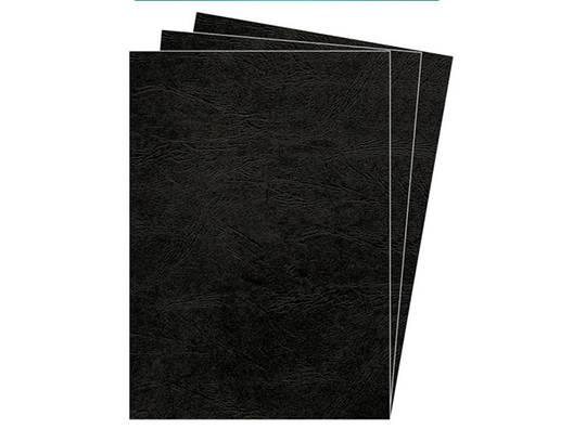 Обложки картонные А4 DELTA 250мкм черные под кожу, фото 2