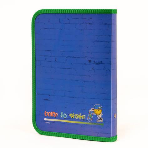 Папка для тетрадей пласт. на молнии В5 ''Smiley World''(blue), фото 2