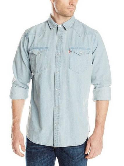Джинсовая рубашка  Levis Barstow Western - New Age Bleach