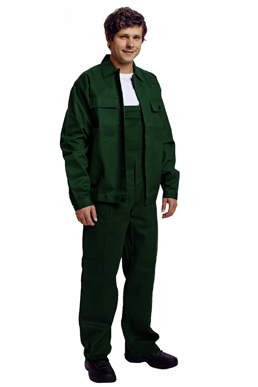 Костюм (полукомбинезон с курткой) рабочий RALF лето Хлопок 100% зеленый