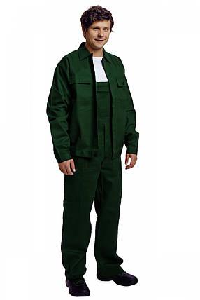 Костюм (полукомбинезон с курткой) рабочий RALF лето Хлопок 100% зеленый, фото 2