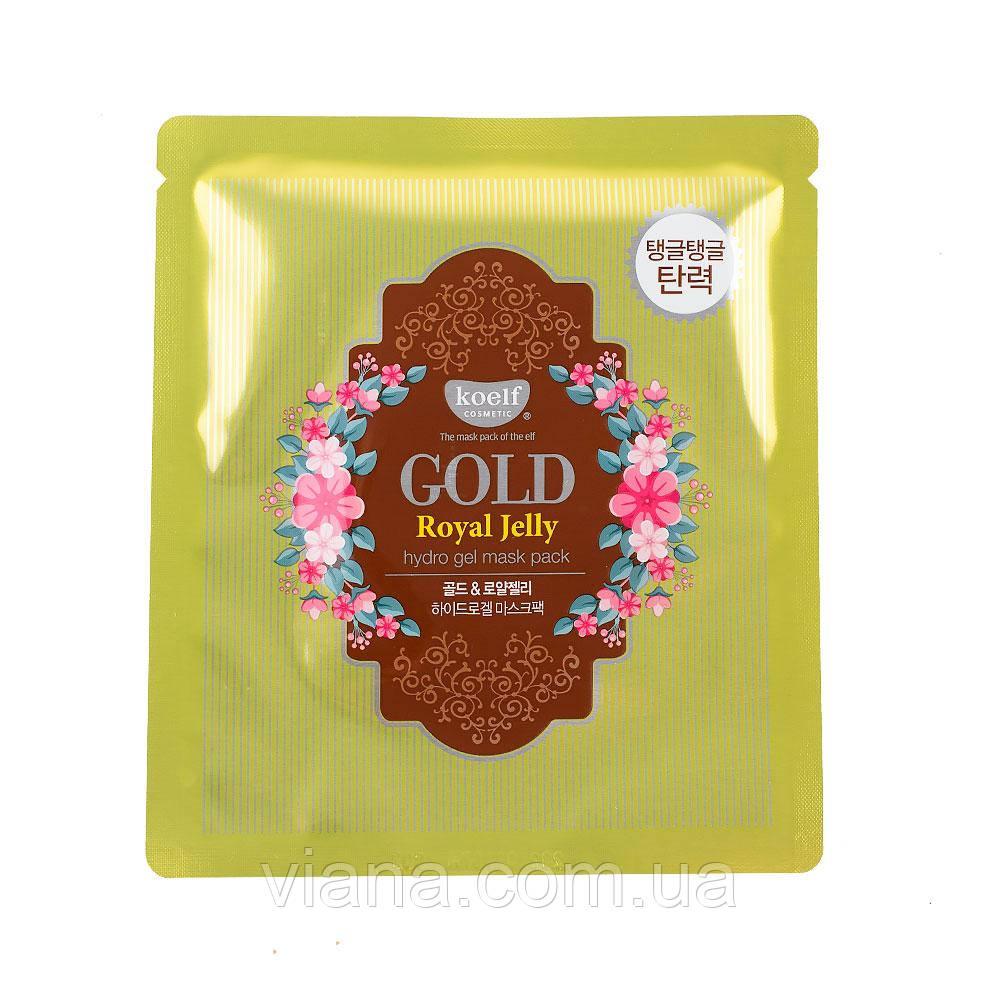 Гидрогелевая маска для лица с золотом и маточным молочком  KOELF Gold & Royal Jelly Hydro Gel Mask