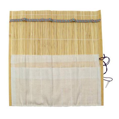 Пенал для кистей D.K.Art&Craft 33x33см бамбук натуральный цвет+ткань 6926586611253, фото 2