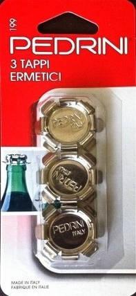 Пробка на бутылки герметичная (3 штуки) Pedrini, фото 2