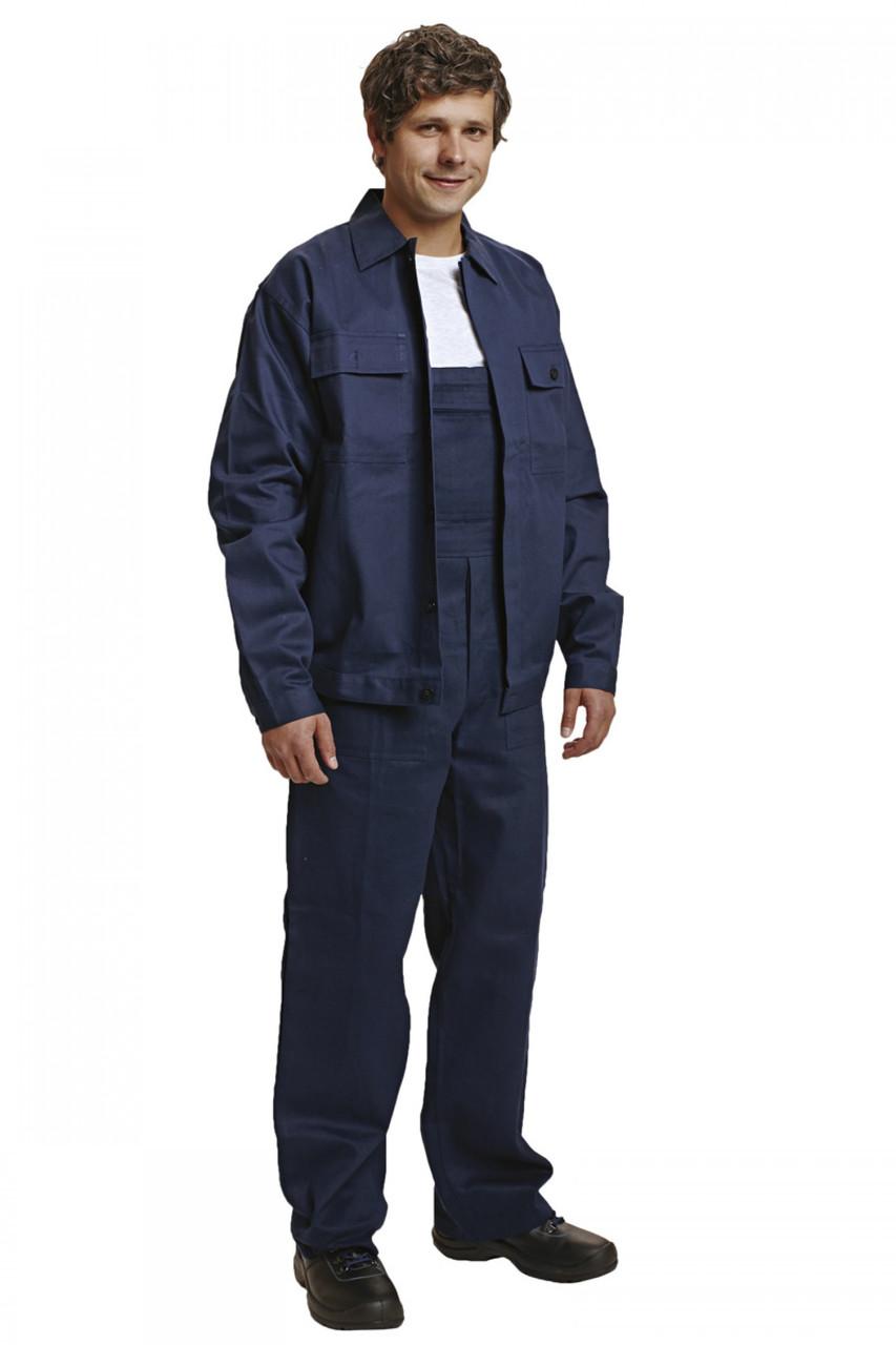 Костюм (полукомбинезон с курткой) рабочий RALF лето Хлопок 100% темно-синий