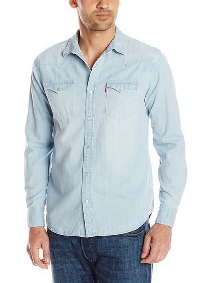 Джинсовая рубашка Levis Barstow Western - Washed Blue