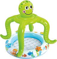 Детский надувной бассейн Intex 57115 с навесом, осьминожка