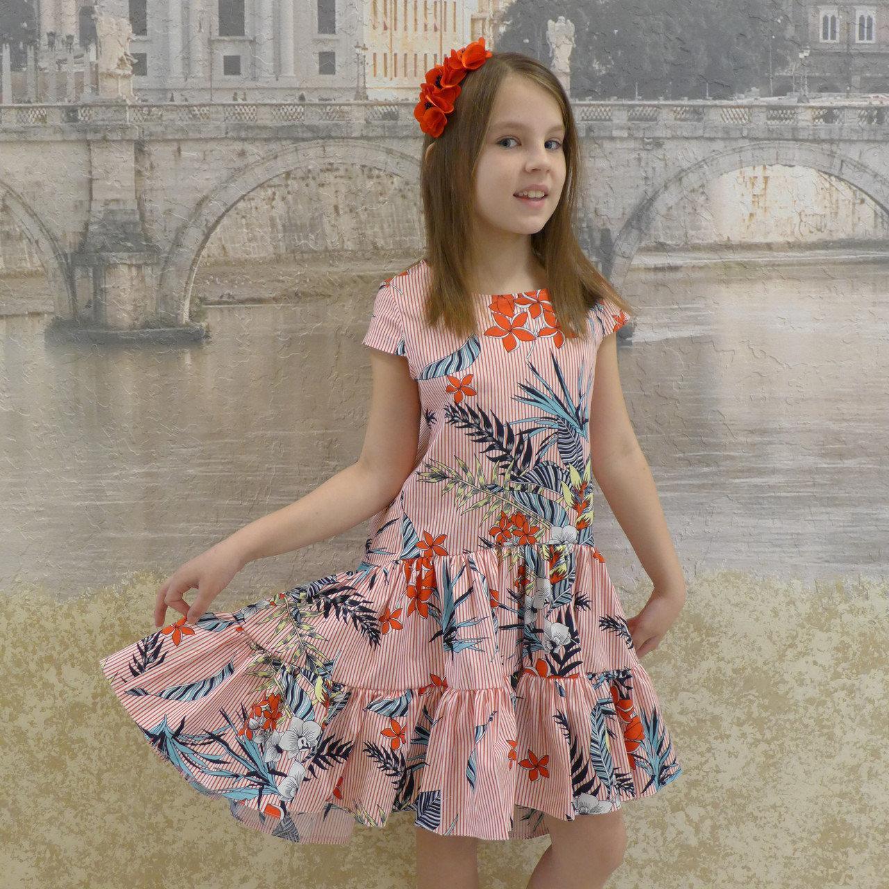 Плаття для дівчинки, розміри на ріст 128 - 156