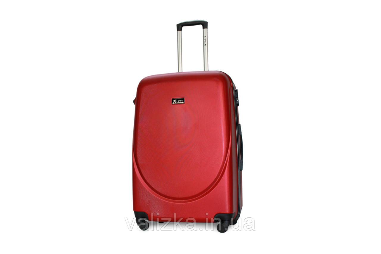 Большой пластиковый чемодан Fly 310 красный