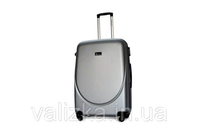 Большой пластиковый чемодан Fly 310 серебро, фото 2