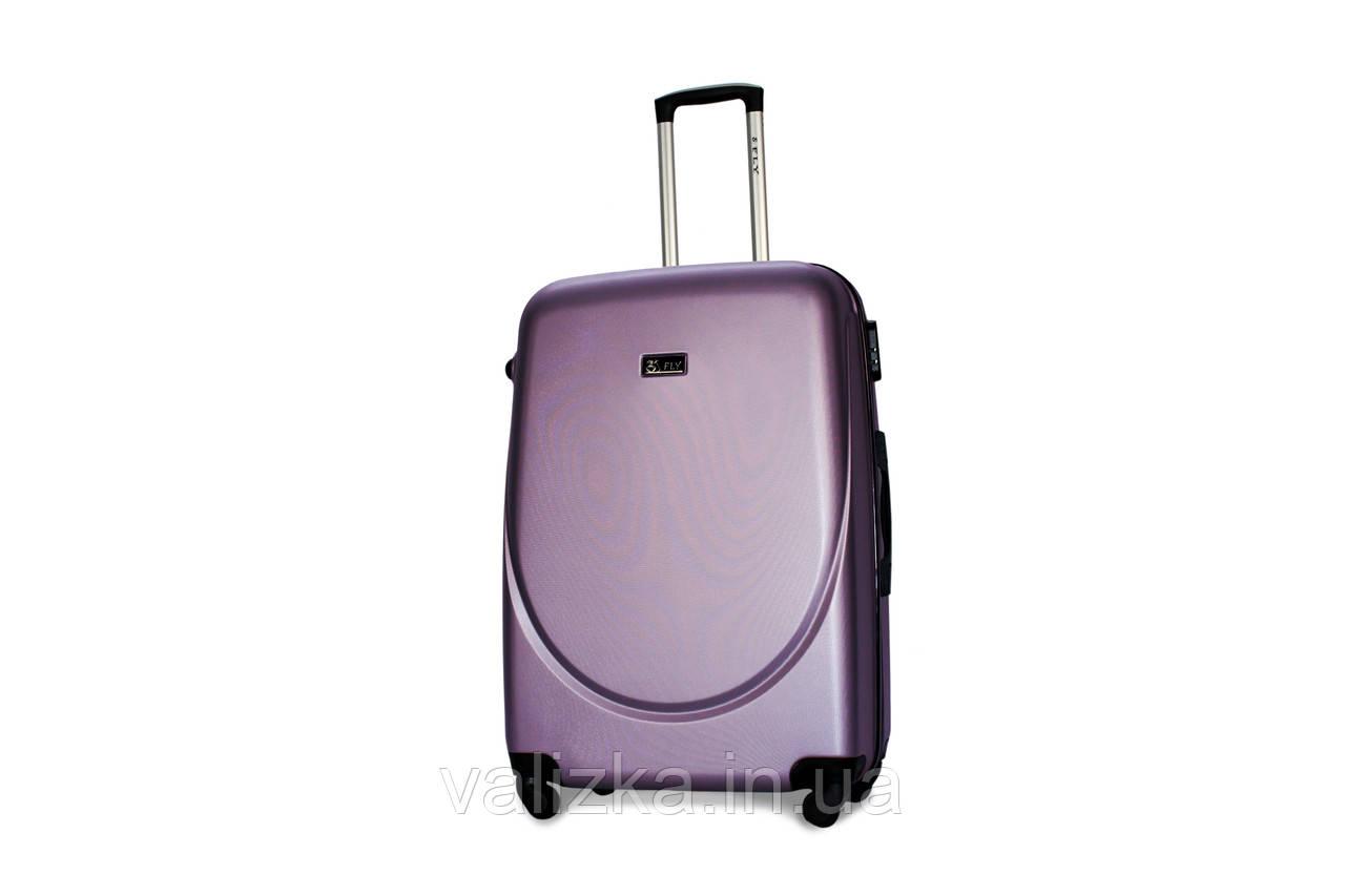 Большой пластиковый чемодан Fly 310 фиолетовый