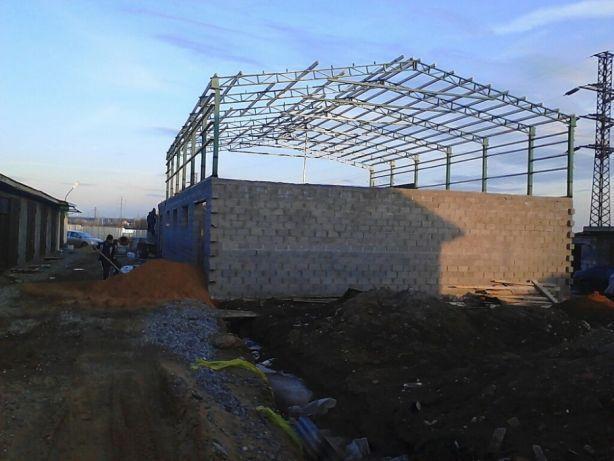 Строительство зернохранилищ,ангаров,складов б
