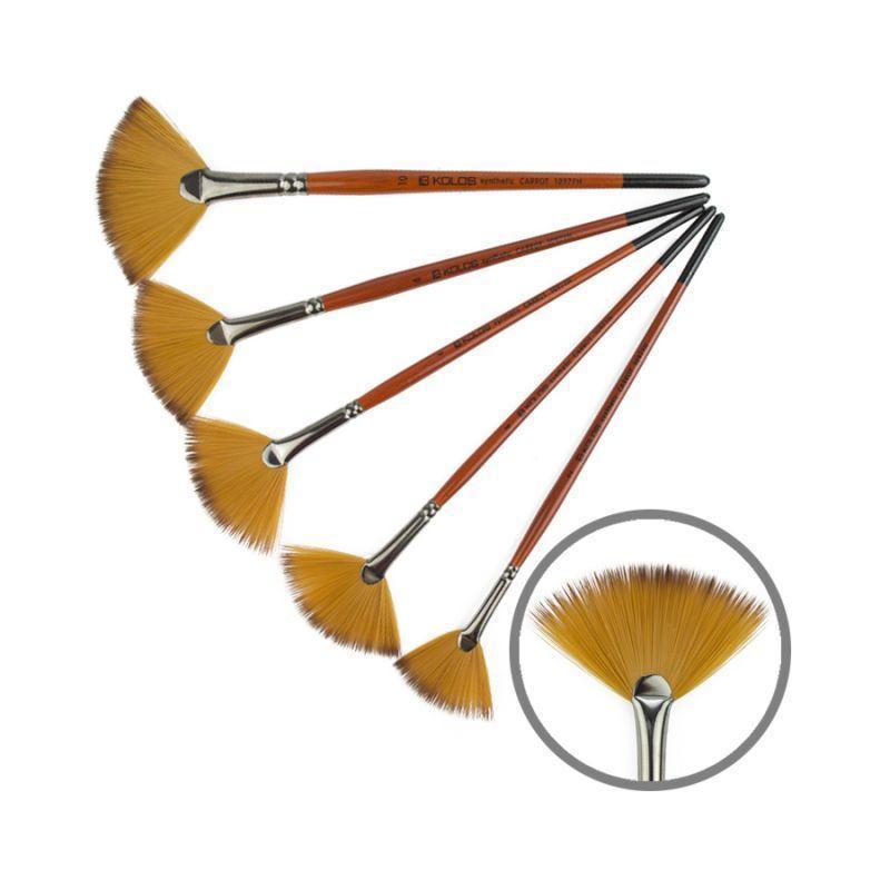 Синтетика веерная Carrot 1097FN № 4 к.р кисть Колос