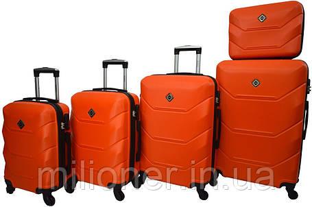 Чемодан Bonro 2019 набор 5 штук оранжевый, фото 2