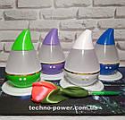 Увлажнитель воздуха 250 мл Вулкан/Капля ультразвуковой Фиолетовый. Увлажнитель воздуха для дома с подсветкой, фото 5