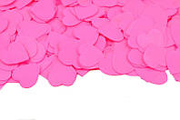 Конфетти Сердечки 25 мм, цвет розовый, 50 г.