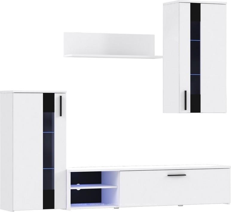Гостиная стенка CRCM01-J01 CRUNCH Forte белый/черный